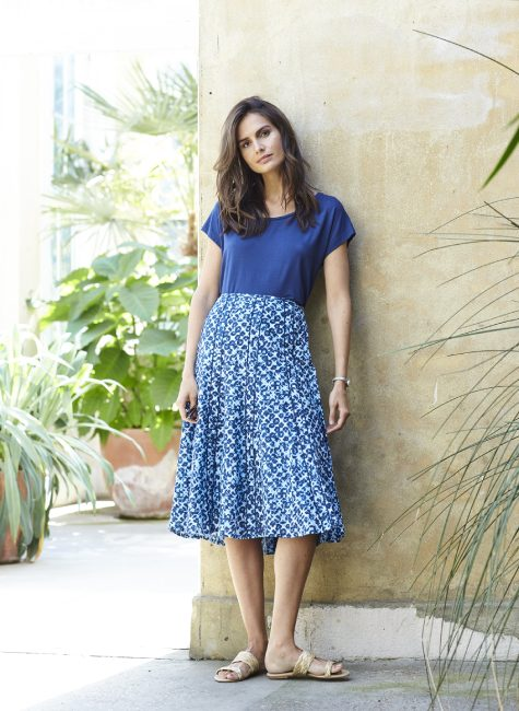 013128BC PEGGY SKIRT BLUE