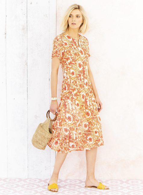 034588CC POLLY DRESS SUNSET