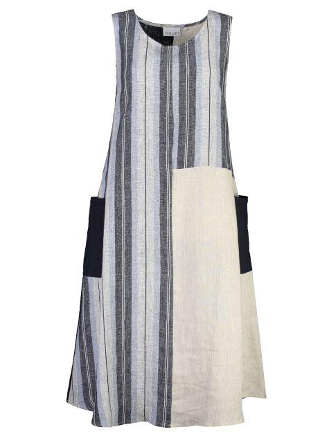 5992 NAVY MIX SINGLET DRESS_Front copy