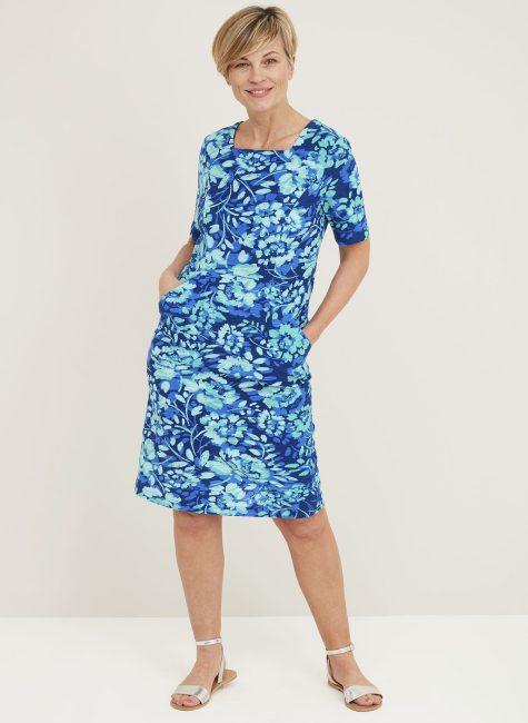 Sela Dress Peony Print_124644PSPEACOCK_FRONT
