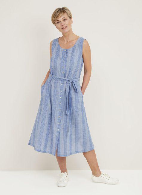 Talulah Dress Denim Voile Stripe_114854DCDENIM_FRONT