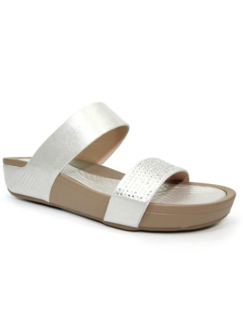 Treen Silver Sparkly Mule Sandal