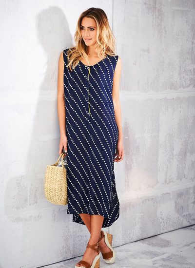 adini_0020_Bandhini Print Bandhini Dress Royal Blue